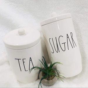 BRAND NEW AUTHENTIC RAE DUNN TEA AND SUGAR JAR SET